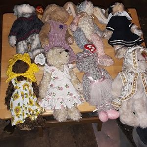 TY  -- ATTIC TREASURE  BEARS  (  15 BEARS TOTAL )